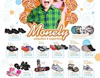 Folheto de Dia das Crianças - Monely Calçados