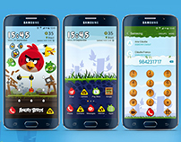Angry Birds Galaxy Theme