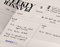 Weekly Planner-Free