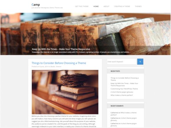 Sitio web en wordpress.