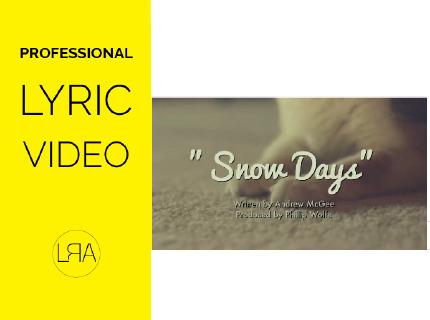 Crearé un Lyric Video animado para tu canción