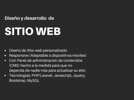 WebSite con panel de administración (No Wordpress)