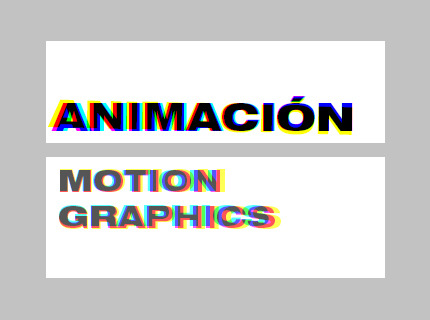 Animación - Motion Graphics