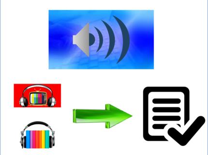 Transcripción de audio o vídeo
