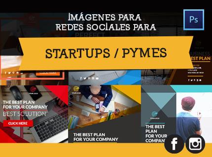 Imágenes en redes sociales. Startups y Pymes