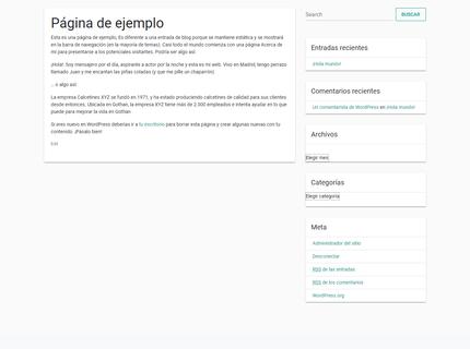Blog simple estilo material design