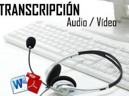 TRANSCRIPCIÓN AUDIO / VÍDEO