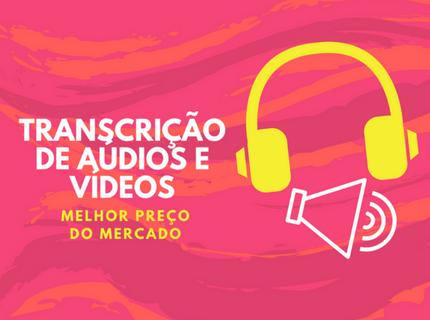 Transcrição de Áudios e Vídeos