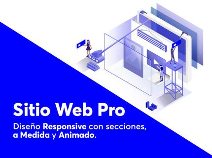 Sitio Web Pro — Diseño Responsive Animado
