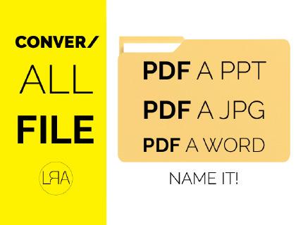 Convierto documentos  PDF, PPT, EXCEL , WORD