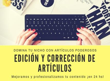 Edición y corrección de artículos