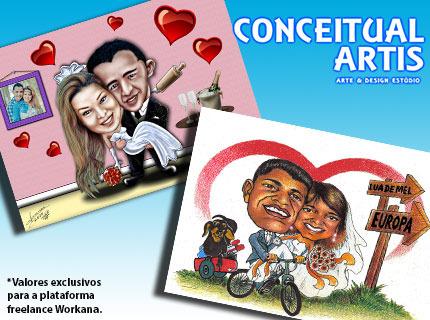 Caricaturas para Casais