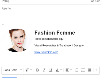 Diseño para firma de correo electrónico