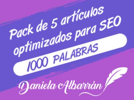 Pack 5 artículos optimizados SEO