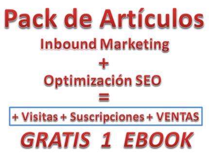 Pack Artículos Inbound Marketing + SEO