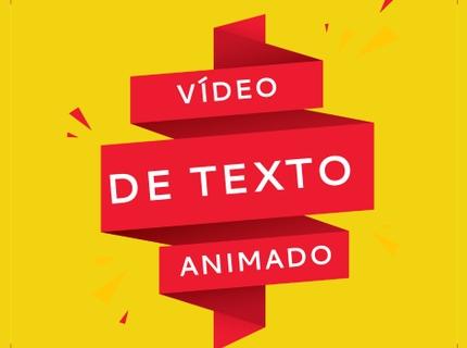 Vídeo de texto animado para promover sua marca