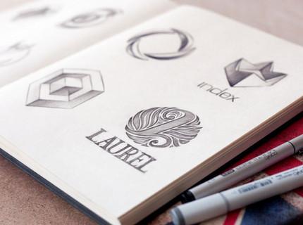Logo profissional com sketch