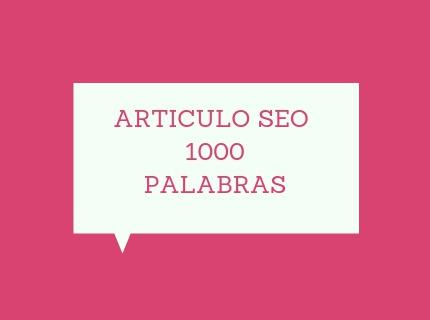 1 artículo de 1000 palabras