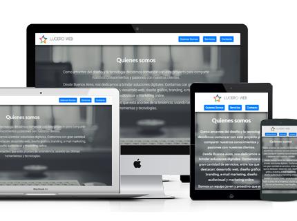 Tu pagina web en días!