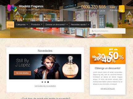 Tienda Fraganza, ideal para promocionar perfumes