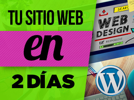 TU ONEPAGE WORDPRESS FLASH - 1 SEMANA