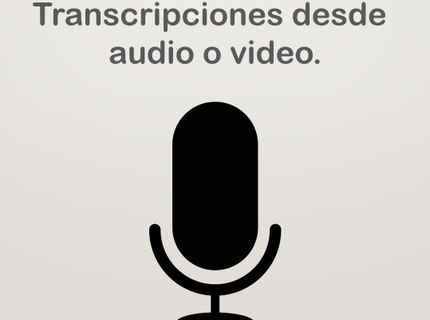 Transcripción de audio o video.