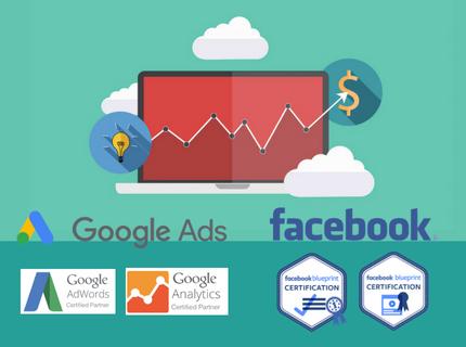 Creación/Gestión Campañas Google Ads/Facebook Ads