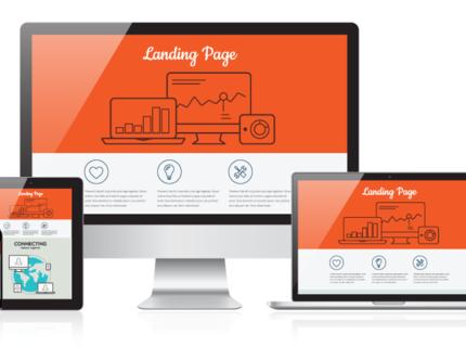 Landing page profissional com design moderno!