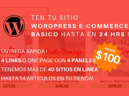 Sitio Wordpress /WooCommerce Starter hasta 24hrs !