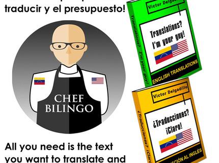 ¿Traducciones? ¡Claro! Translations? I'm your guy!