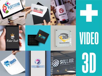 Criação de Logotipo + Video 3D