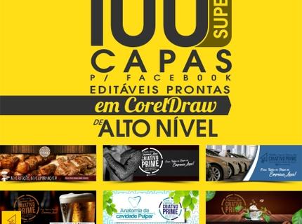 100 CAPAS para FACEBOOK em CorelDraw