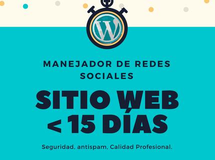 Sitio web y Redes en 15 días