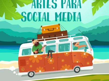 5 artes para redes sociais
