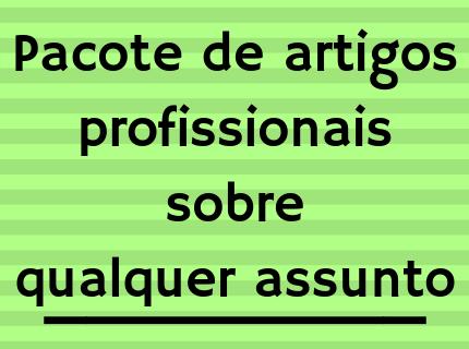 PACOTE DE ARTIGOS PROFISSIONAIS