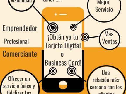 Tarjeta Digital de Negocios y de Invitación