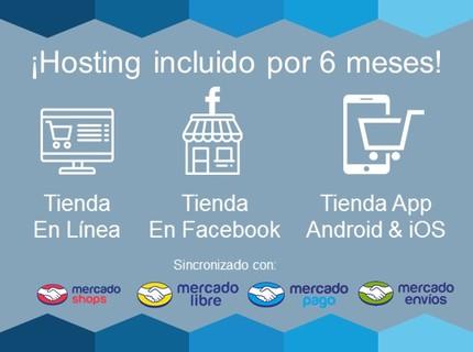 Tienda en línea+Tienda Facebook+App Android & iOS