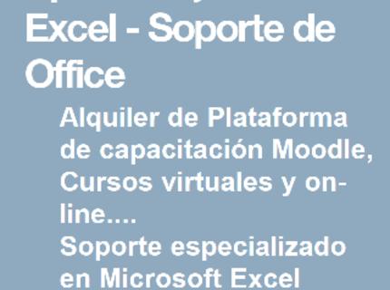 Instructor y Soporte en Microsoft Excel