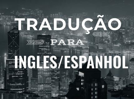 Tradução de texto para o inglês ou o espanhol