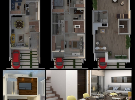 Elaboración de Render interiores y exteriores