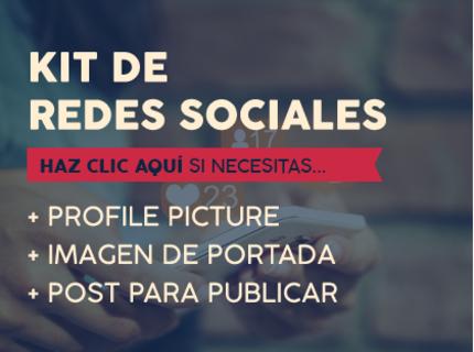Kit de piezas para redes sociales