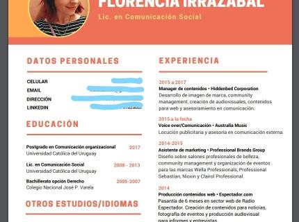 Diseño de Currículum Vitae profesional