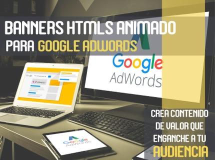 Banners HTML5 animados para Google Adwords