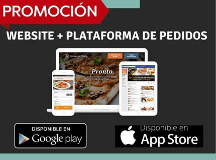 Website para Restaurantes + Sistema Pedidos Online